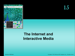 15 The Internet and Interactive Media