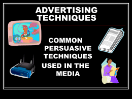 Advertising Techniques (PowerPoint Slides)