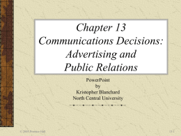 Chapter 13 Notes - Arkansas State University