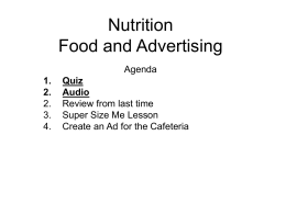Nutrition Food and Advertising