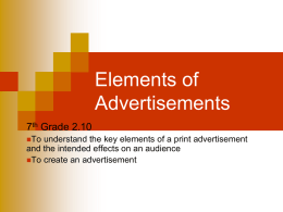 2.10 Elements of Advertisements