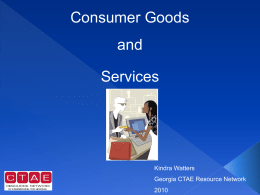 CA_4_Consumer Goods and Services Review PowerPoint