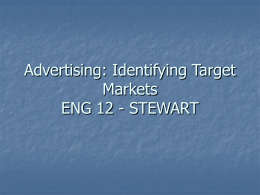 Identifying the Target Audience in Advertising PPT