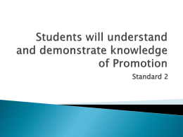 Promotion PowerPoint