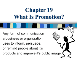 Promotion Notes