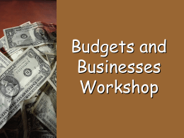 Budgets and Businesses PPT