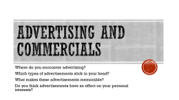 Notes on Types of Advertising