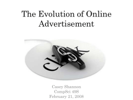 The Evolution of Online Advertisement