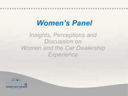 Female customer perceptions of buying from car dealers