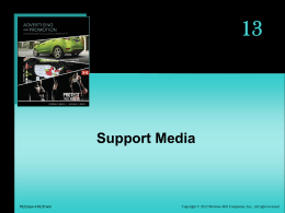 13 Support Media - McGraw Hill Higher Education