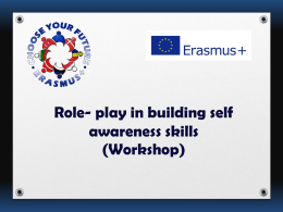 Role-play in building self