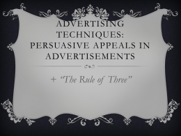 Persuasive Appeals Power