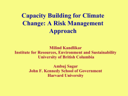 Capacity Building for Climate Change: