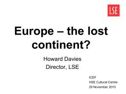 Europe – the lost continent