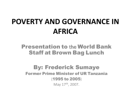 poverty and governance in africa