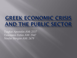 greek economic crisis and the public sector - E