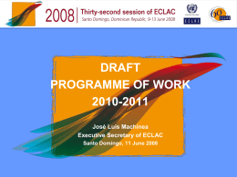 draft programme of work 2010-2011
