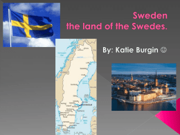 Sweden the land of the Swedes. - Fort Thomas Independent Schools