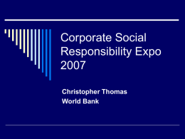 Corporate Social Responsibility Expo 2007
