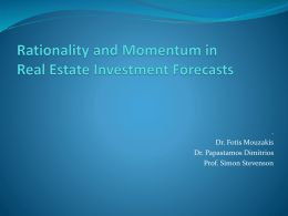 Evaluating the Accuracy and Rationality of UK Property Forecasts