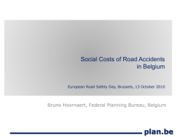 Social Costs of Road Accidents in Belgium