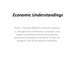 Economic Understandings Powerpointx