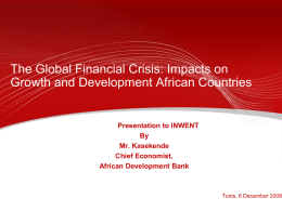 Impacts on Growth and Development African Countries