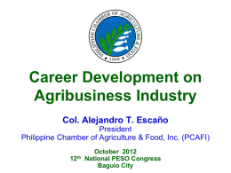 Careers in the Industries: Agriculture