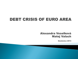 debt crisis of euro area