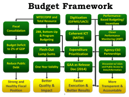 Budget Process and MITHI - Department of Budget and Management
