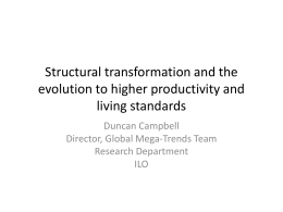 Structural transformation and the evolution to higher
