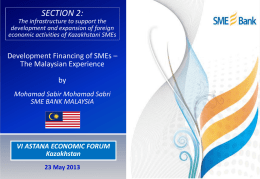 The Malaysian Experience - Astana Economic Forum 2013