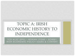 Irish Econ History since Independence student slides
