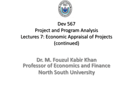 Dev 567 Project and Program Analysis Lectures 7