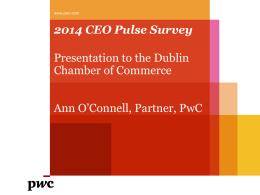 2014 CEO Pulse Survey - Dublin Chamber of Commerce