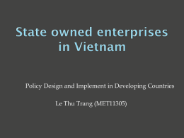 State owned enterprises in vietnam