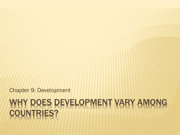 Why does development vary among countries