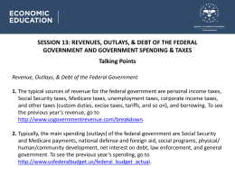 REVENUES, OUTLAYS, & DEBT OF THE FEDERAL