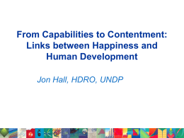 Jon Hall, Policy Specialist, Human Development Report Office, UNDP