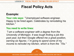 lesson 21 fiscal policy: the multiplier effect