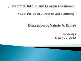 J. Bradford DeLong and Lawrence Summers
