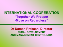 INTERNATIONAL COOPERATION - The Co