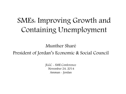 SMEs_Munther Share - Jordan Loan Guarantee Corporation