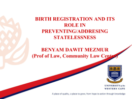 Presentation on birth registration in Africa