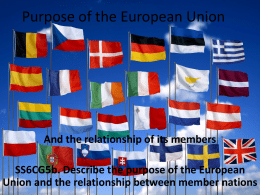 Purpose of the European Union Ppt