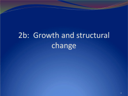 Growth and structural change - Agricultural & Applied Economics
