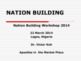 Dr Victor Koh`s Presentation _NBW _March 22