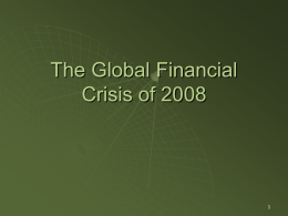 3.22 – The Global Financial Crisis