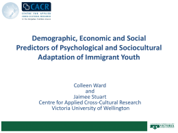 Demographic, Economic and Social Predictors of Psychological