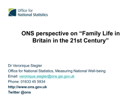 ONS perspective on